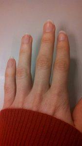 Notice my ringless hand.