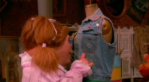 You know what this jean vest needs? A boogie. Right here.